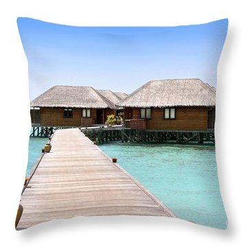 Meeru Throw Pillow by Jane Rix