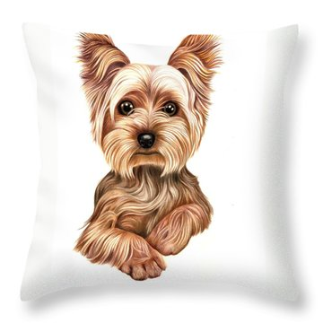 Meet Terry From Yorkshire Throw Pillow by Margaret Sanderson