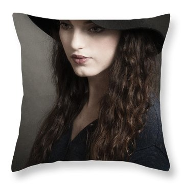 Melancholy Baby Throw Pillow