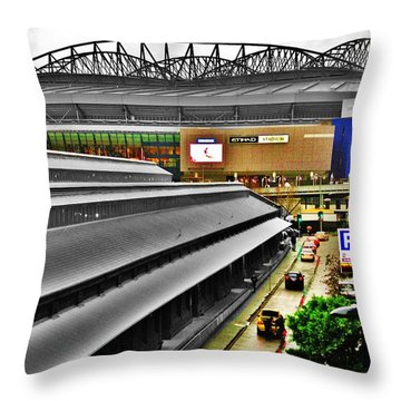 Throw Pillow featuring the photograph Melbourne Docklands by Blair Stuart