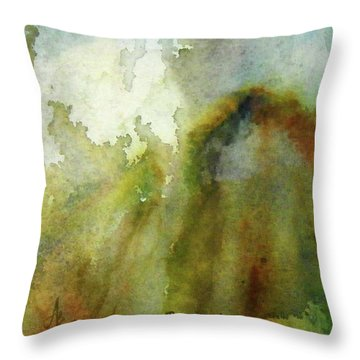 Throw Pillow featuring the painting Melting Mountain by Anna Ruzsan