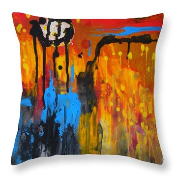 Melting Point Throw Pillow by Everette McMahan jr