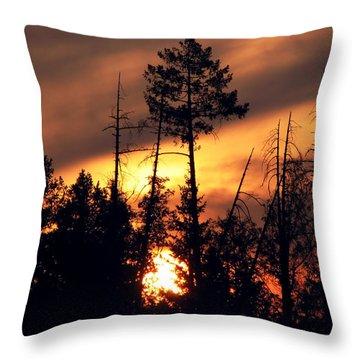 Melting Skies Throw Pillow