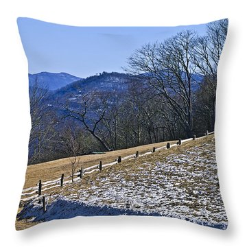 Melting Snow Throw Pillow by Susan Leggett