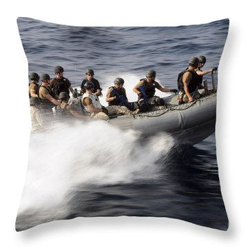 Members Of A Visit, Board, Search Throw Pillow by Stocktrek Images