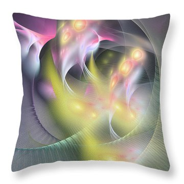 Memoria Futurorum -abstract Art Throw Pillow