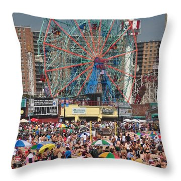 Memorial Day Weekend Throw Pillow by Mark Gilman