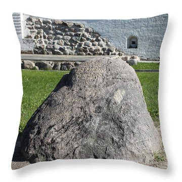 Memorial Stone Of Twin Cities Throw Pillow by Evgeny Pisarev
