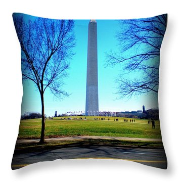 Throw Pillow featuring the photograph Memorials Washington  D.c. by Danielle  Parent