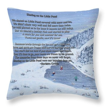 Memories Of A Little Pond Throw Pillow by Barbara Griffin