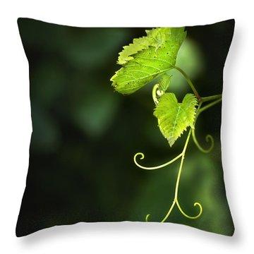 Memories Of Green Throw Pillow by Evelina Kremsdorf