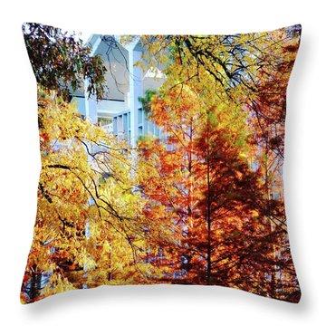 Throw Pillow featuring the photograph Memphis College Of Art Overton Park Memphis Tn by Lizi Beard-Ward