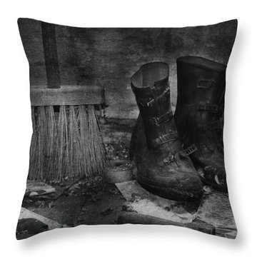 Men At Work Throw Pillow by Jerry Cordeiro