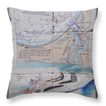 Menemsha Bight 6 Tile Set Throw Pillow