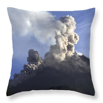 Merapi Eruption, Java Island, Indonesia Throw Pillow by Martin Rietze