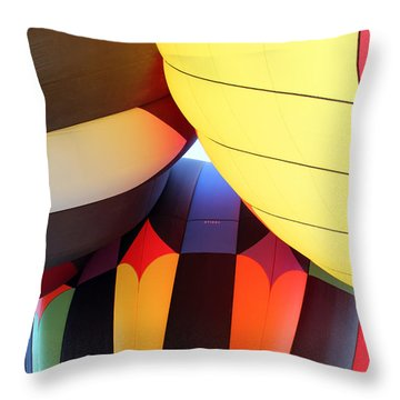 Merging Hues Throw Pillow by Alycia Christine