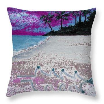 Merry Beachy Christmas Throw Pillow