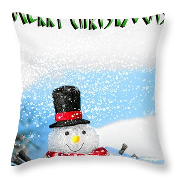 Merry Christmas Throw Pillow by Billie-Jo Miller