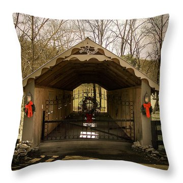 Merry Christmas From Tennessee Throw Pillow by Trish Tritz