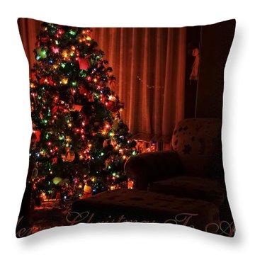 Merry Christmas To All Christmas Card Throw Pillow