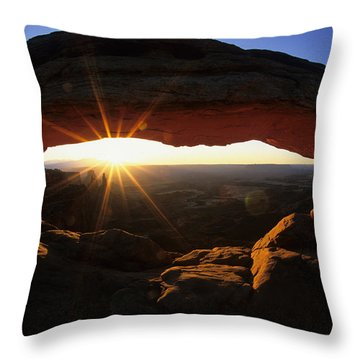 Mesa Arch Sunrise Throw Pillow by Bob Christopher
