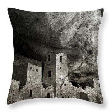 Mesa Verde - Monochrome Throw Pillow by Ellen Heaverlo
