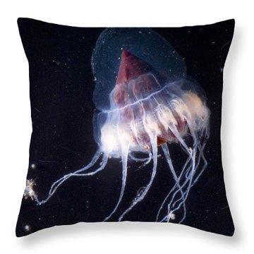Mesopelagic Jellyfish Throw Pillow