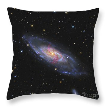 Messier 106, A Spiral Galaxy With An Throw Pillow by R Jay GaBany