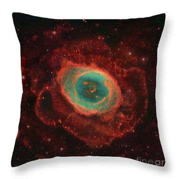 Messier 57, The Ring Nebula Throw Pillow by Robert Gendler