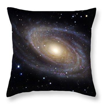 Messier 81, A Spiral Galaxy Throw Pillow