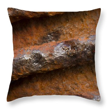 Metal Coil Throw Pillow by Carrie Cranwill