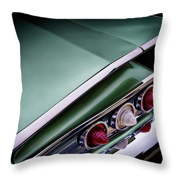 Metalic Green Impala Wing Vingage 1960 Throw Pillow