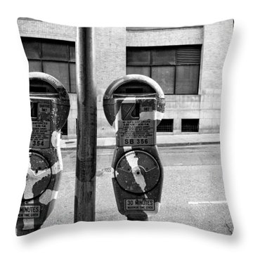 Metered Parking Throw Pillow