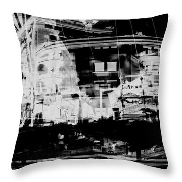 Metropolis Nacht Throw Pillow