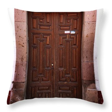 Mexican Door 45 Throw Pillow by Xueling Zou