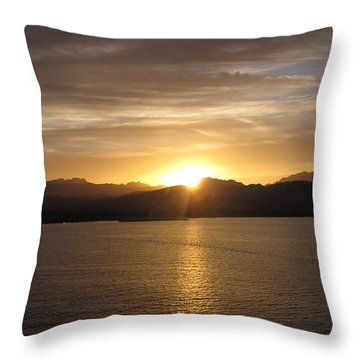 Throw Pillow featuring the photograph Mexican Sunset by Marilyn Wilson