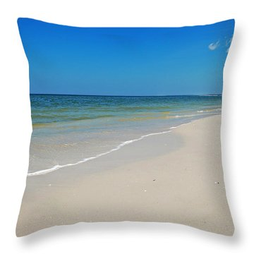 Mexico Beach Throw Pillow