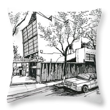 Diego Rivera Home. Mexico City.  Throw Pillow