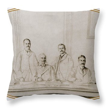 Meyer Guggenheim And Sons Throw Pillow by Science Source