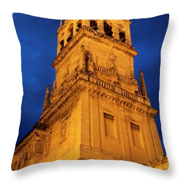 Throw Pillow featuring the photograph Mezquita Tower by Lorraine Devon Wilke
