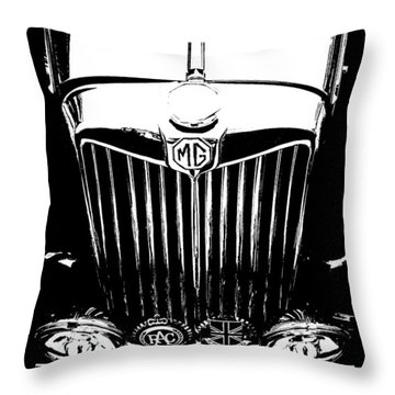 Mg Grill Black And White Throw Pillow by Nick Kloepping