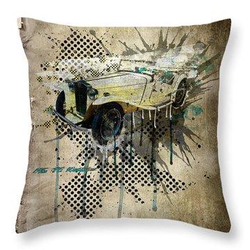 Mg Tc Roadster Throw Pillow by Svetlana Sewell