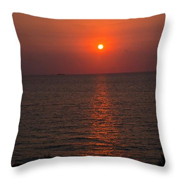 Throw Pillow featuring the photograph Miami Sunrise by Pravine Chester