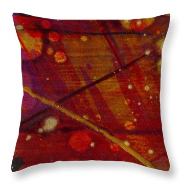 Mickey's Triptych - Cosmos II Throw Pillow by Angela L Walker