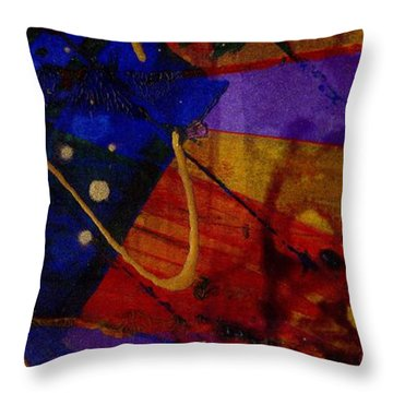 Mickey's Triptych - Cosmos IIi Throw Pillow by Angela L Walker