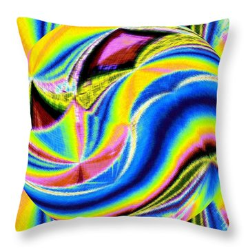 Micro Linear 28 Throw Pillow by Will Borden