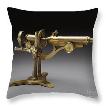 Microscope, 1864 Throw Pillow by Science Source