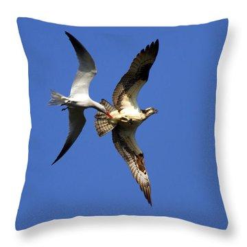 Mid-air Attack Throw Pillow by Mike  Dawson