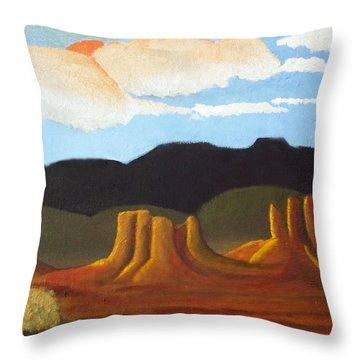 Mid-morning On A Western Plains Throw Pillow
