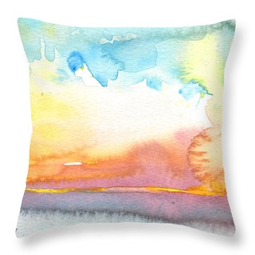 Midday 26 Throw Pillow by Miki De Goodaboom